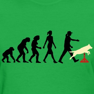 evolution_of_woman_dog_sport__10_2016_b_ T-Shirts - Women's T-Shirt