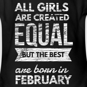 Grils born in february birthday design Baby Bodysuits - Short Sleeve Baby Bodysuit
