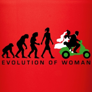 evolution_of_woman_wedding_scooter_c3c Mugs & Drinkware - Full Color Mug