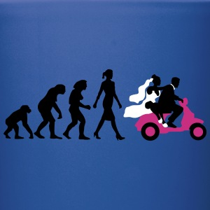 evolution_of_woman_wedding_scooter_a3c Mugs & Drinkware - Full Color Mug