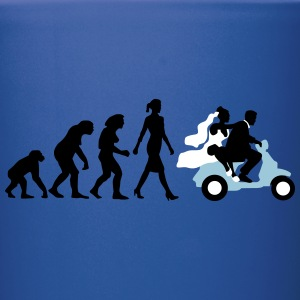 evolution_of_woman_wedding_scooter_b3c Mugs & Drinkware - Full Color Mug