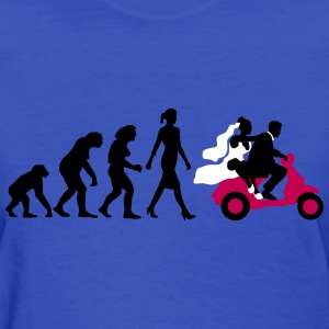 evolution_of_woman_wedding_scooter_a3c T-Shirts - Women's T-Shirt