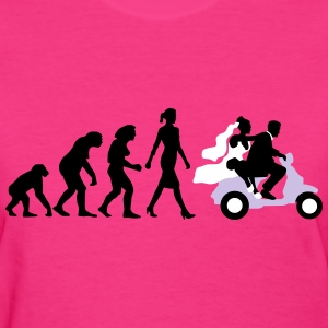 evolution_of_woman_wedding_scooter_b3c T-Shirts - Women's T-Shirt