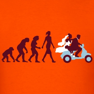 evolution_of_woman_wedding_scooter_a3c T-Shirts - Men's T-Shirt
