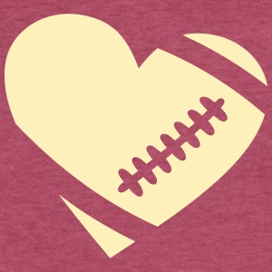 footballheart_subgirl T-Shirts - Fitted Cotton/Poly T-Shirt by Next Level