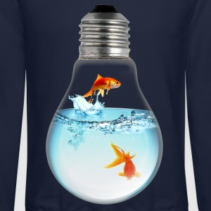 Fish LightBulb 3000 Long Sleeve Shirts - Crewneck Sweatshirt