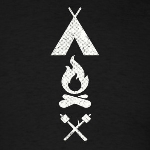 camp fire icons - Men's T-Shirt