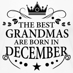 The Best Grandmas Are Born In December Long Sleeve Shirts - Women's Premium Long Sleeve T-Shirt