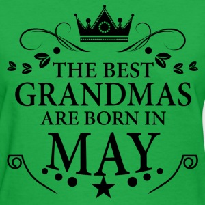 The Best Grandmas Are Born In May T-Shirts - Women's T-Shirt