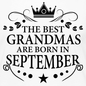 The Best Grandmas Are Born In September Long Sleeve Shirts - Women's Premium Long Sleeve T-Shirt