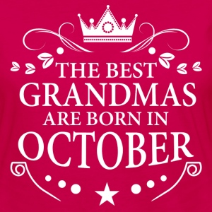 The Best Grandmas Are Born In October Long Sleeve Shirts - Women's Premium Long Sleeve T-Shirt
