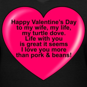 Ladies Valentine Tee - Women's V-Neck T-Shirt
