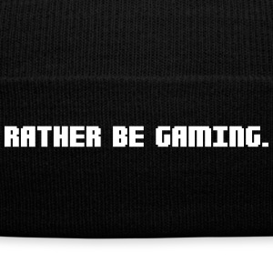 RATHER BE GAMING Sportswear - Knit Cap with Cuff Print