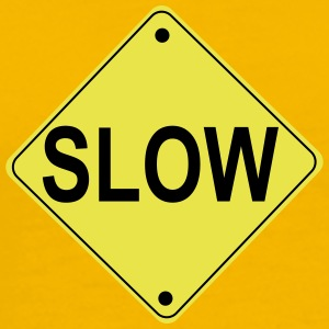 Slow Road Sign - Men's Premium T-Shirt
