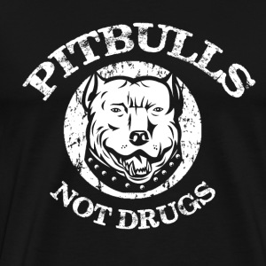 Pitbulls Not Drugs T-Shirts - Men's Premium T-Shirt