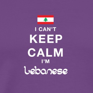 I CAN'T KEEP CALM I'M LEBANESE - Men's Premium T-Shirt