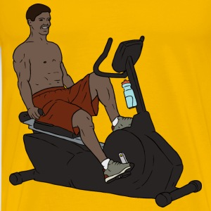 Exercise Bike Man - Men's Premium T-Shirt