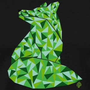 Shapes - Green Fox - Men's Premium T-Shirt