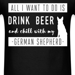 German Shepherd - All I want to do to is drink bee - Men's T-Shirt