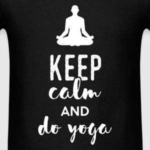 YOGA - Keep calm and do yoga - Men's T-Shirt