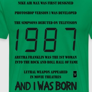 1987 30th birthday (dark print) - Men's Premium T-Shirt