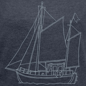 sailing boat - Women´s Rolled Sleeve Boxy T-Shirt
