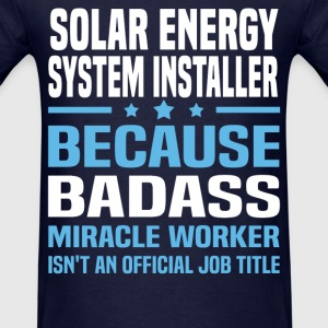 Solar Energy System Installer Tshirt - Men's T-Shirt