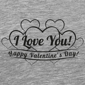 vintage-heart-Happy-Valentines Day-i love you - Men's Premium T-Shirt