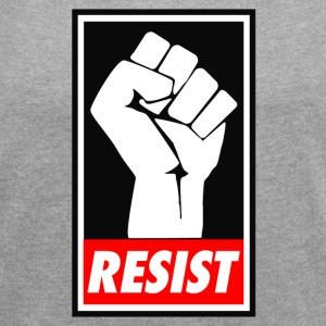 resist Trump - Women´s Rolled Sleeve Boxy T-Shirt