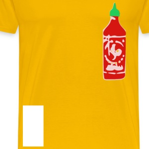 Hot Sauce Bottle with Gre - Men's Premium T-Shirt