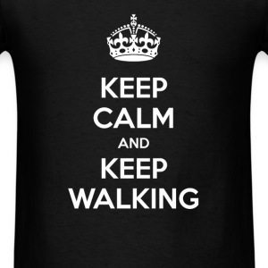 Walking - Keep calm and keep walking - Men's T-Shirt