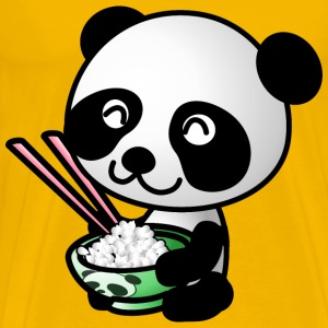 Panda Eating Rice - Men's Premium T-Shirt
