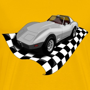Checker corvette - Men's Premium T-Shirt