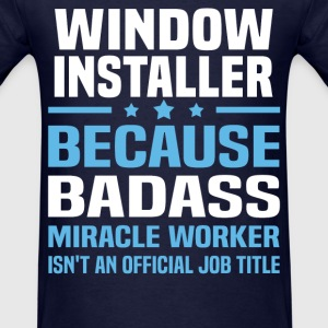 Window Installer Tshirt - Men's T-Shirt