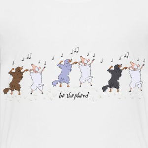 Australian Shepherd dancing with sheep Kids' Shirts - Kids' Premium T-Shirt
