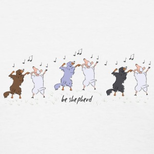 Australian Shepherd dancing with sheep T-Shirts - Women's T-Shirt
