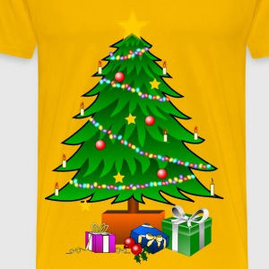 ChristmasTree with Gifts - Men's Premium T-Shirt