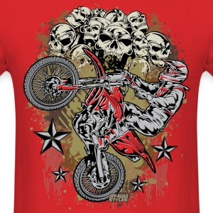 Motocross Mud Skulls T-Shirts - Men's T-Shirt