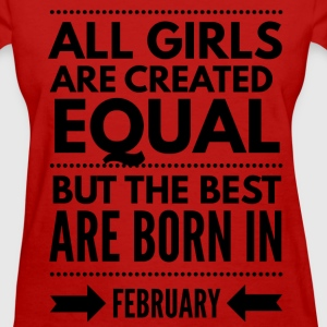 February birthday design girls T-Shirts - Women's T-Shirt
