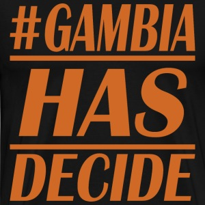 gambia decide - Men's Premium T-Shirt