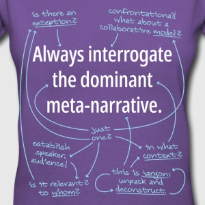 Dominant Meta-Narrative Fitted - Women's V-Neck T-Shirt