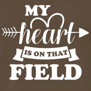 My heart is on that field - Men's Premium T-Shirt