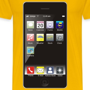 Smartphone with Apps - Men's Premium T-Shirt