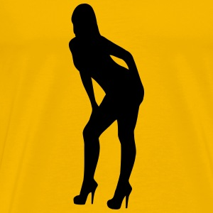 Leaning stripper - Men's Premium T-Shirt