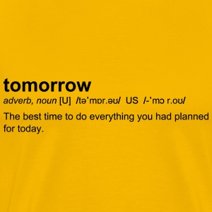 Definition of tomorrow - Men's Premium T-Shirt