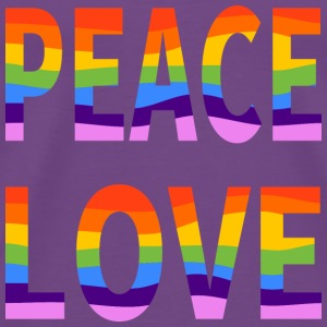 LGBT Peace Love Men's Premium Purple Tee - Men's Premium T-Shirt