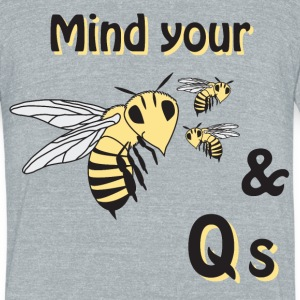 Bees & Qs T-Shirts - Unisex Tri-Blend T-Shirt by American Apparel