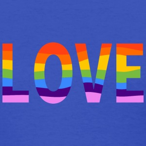 LGBT Rainbow Pride Love Women's Royal Blue T-shirt - Women's T-Shirt