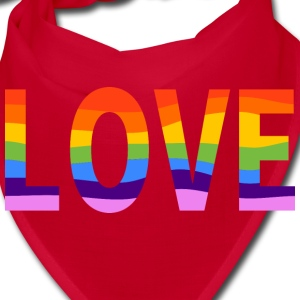 LGBT Pride Rainbow Love Red Protest Bandana - Bandana