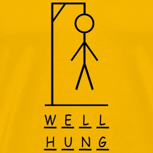 Well hung - Men's Premium T-Shirt